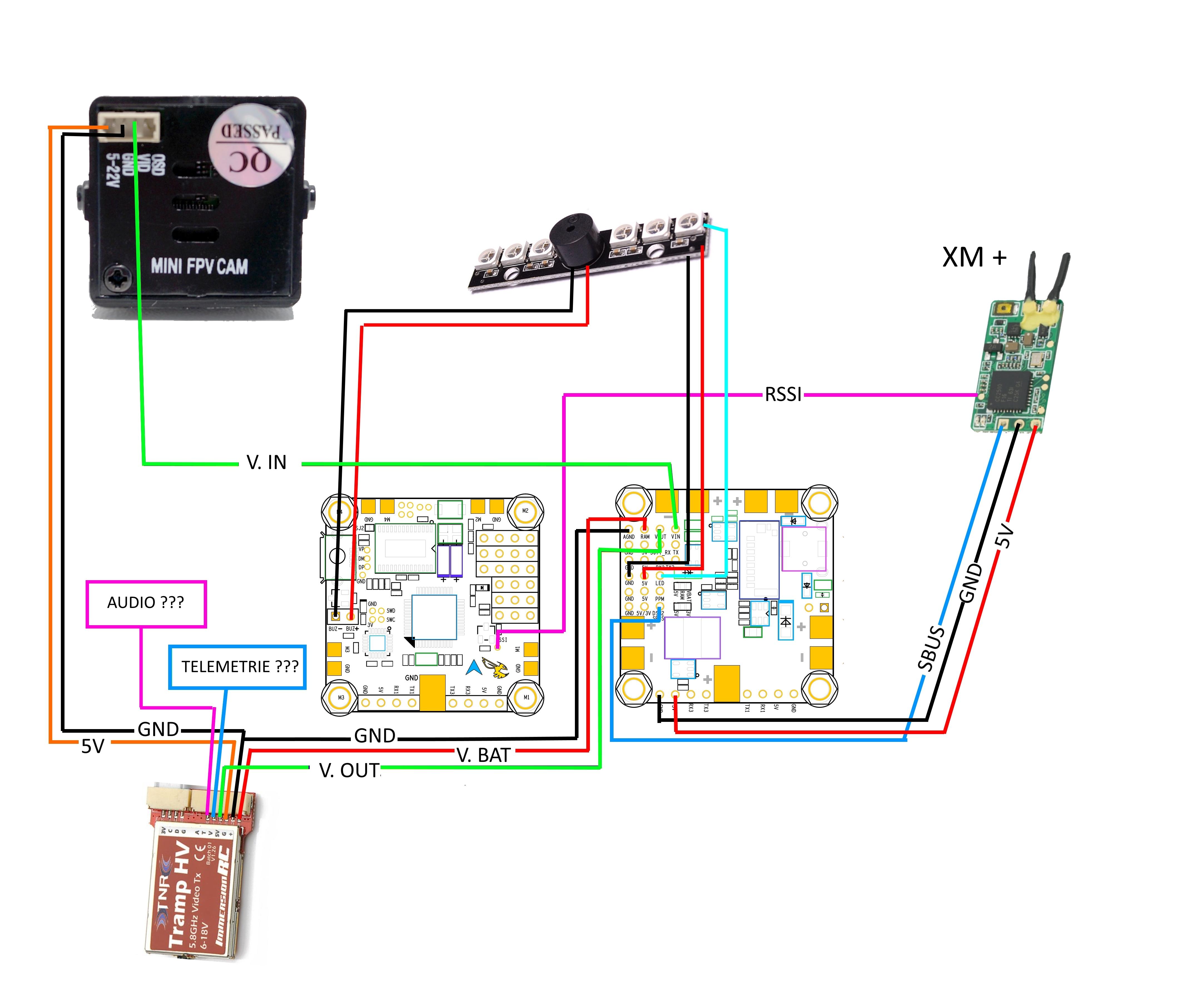 Tramp HV - Betaflight F3 - XM + et télémétrie ? - Le matos