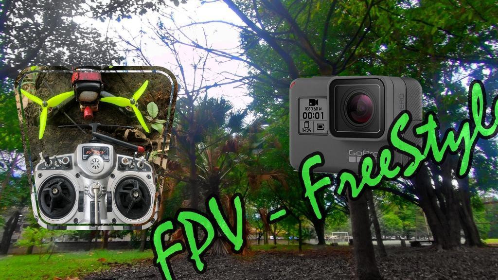 FPV un vol en douceur dans une petite forêt